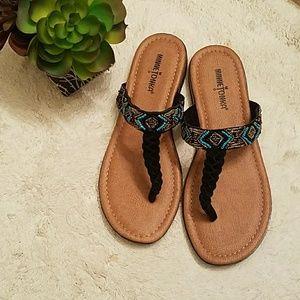 Minnetonka Beaded Strap Sandal